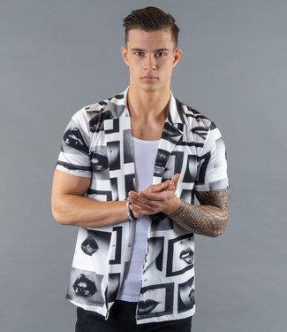Monavoid Shirts CARLITO-LIPS WhiteBlack