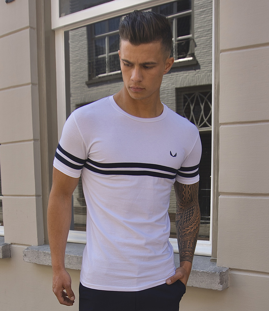 Zumo TShirts FRANKIE-CHEST WhiteNavy