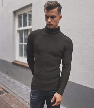 Zumo Pulls COLLET-ROLLNECK Army
