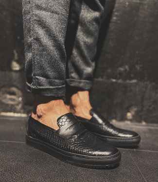 Made in Italy MadeInItaly Loafers SNAKE Black