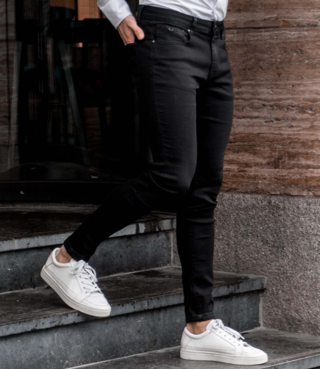 Zumo Extra Skinny Fit Jeans STEVE-SOLID Black