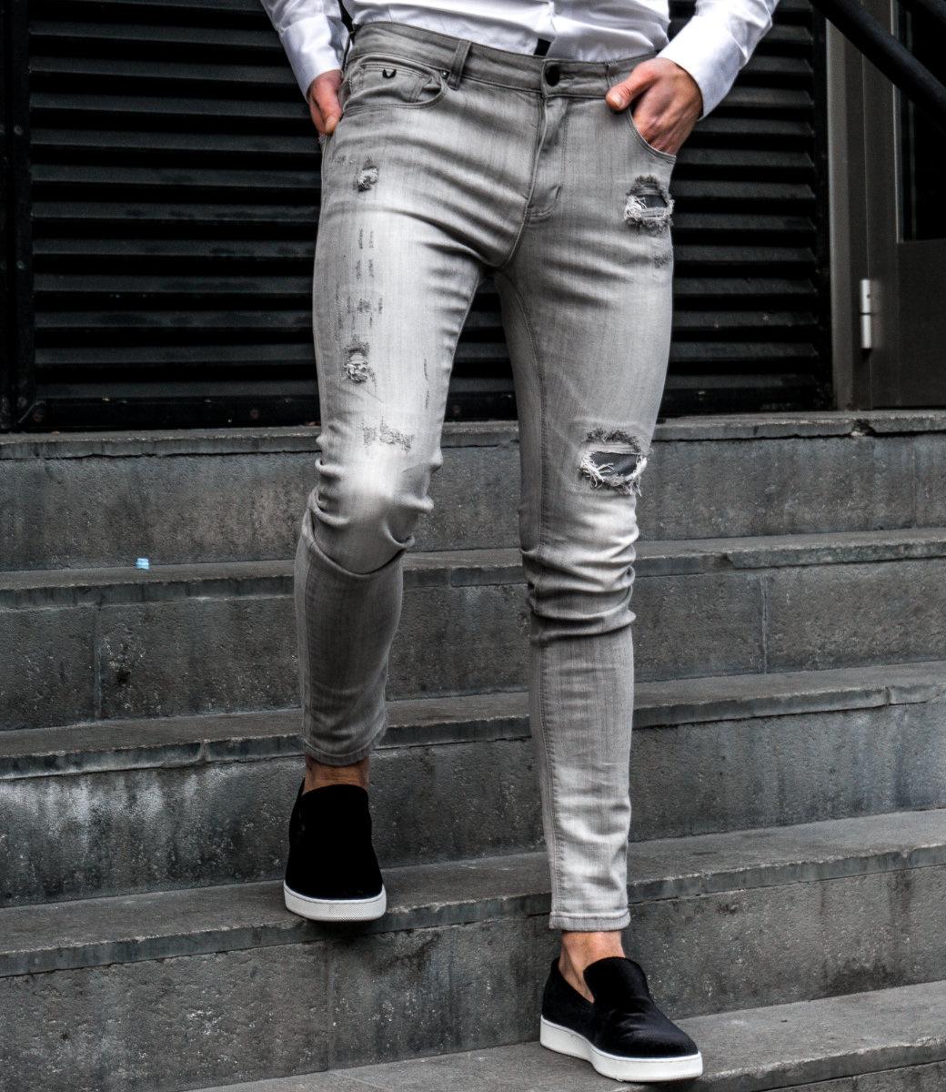 Zumo Extra Skinny Fit Jeans STEVE-DARK-STONE Grey