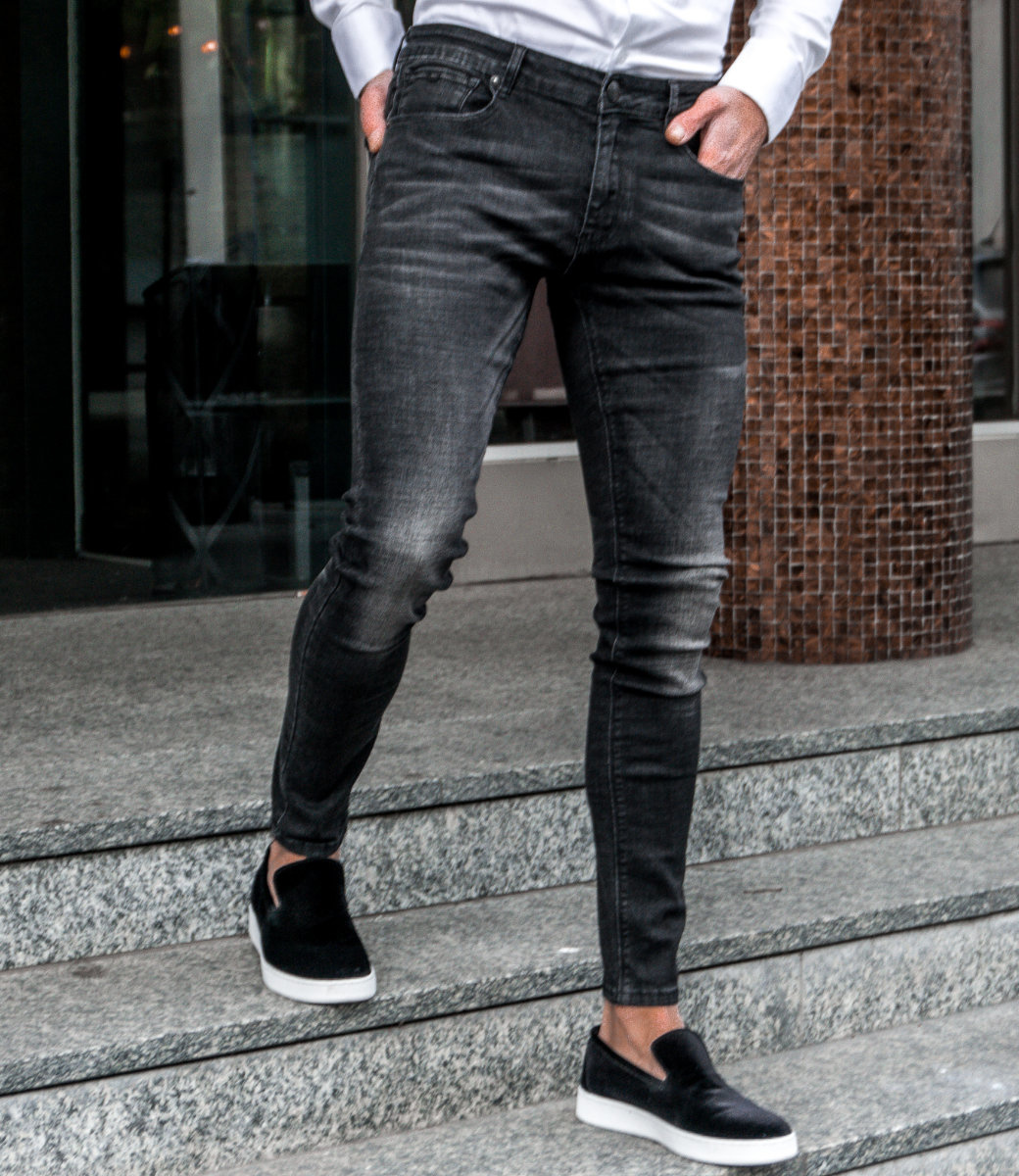 Zumo Extra Skinny Fit Jeans STEVE WASHED Black