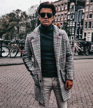 Monavoid Coats Garibaldi Check Ecru