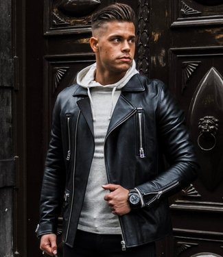 Zumo Leather Jackets Vincent Black