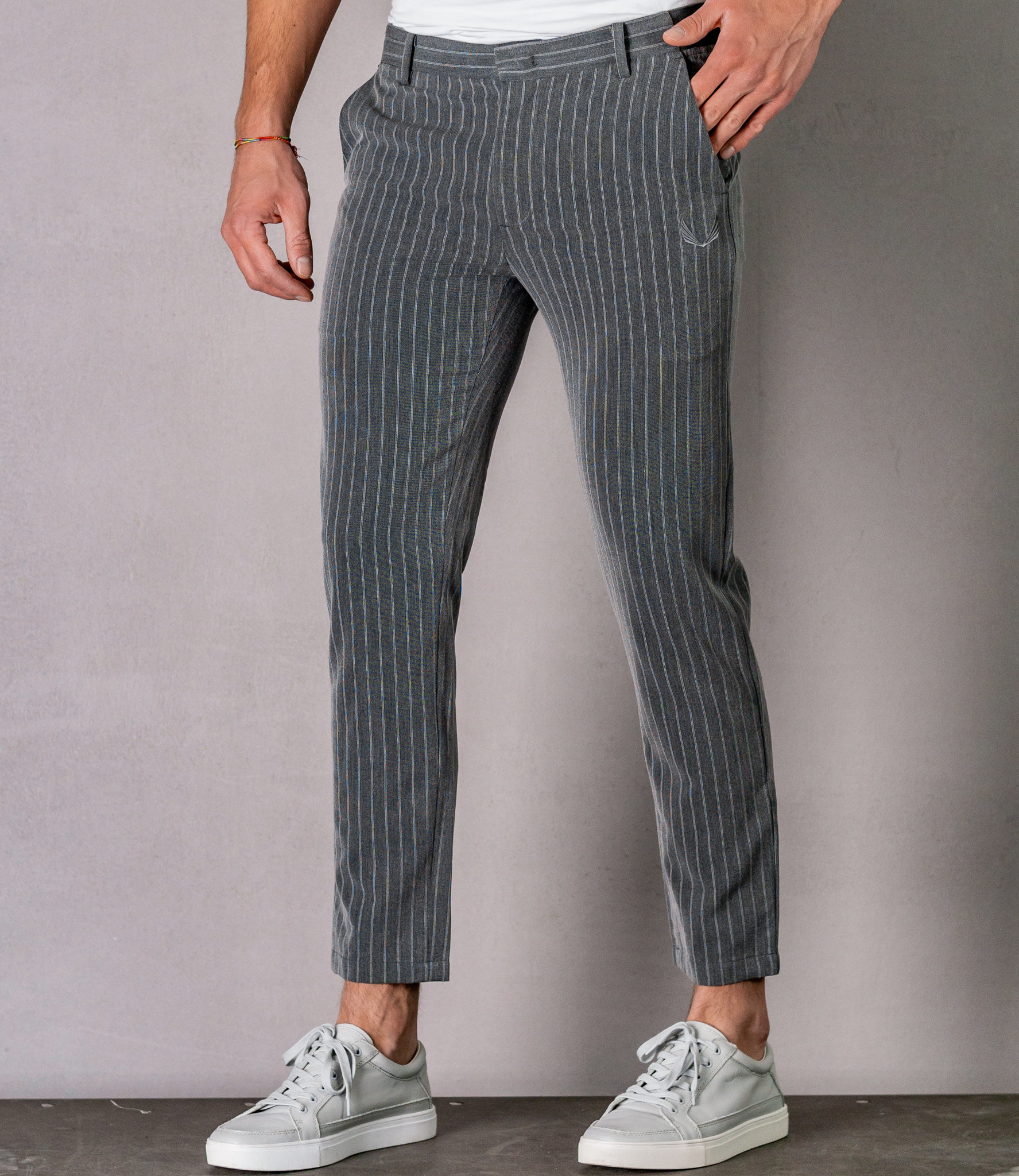 Zumo Slim Fit Pants BRIDGE Grey