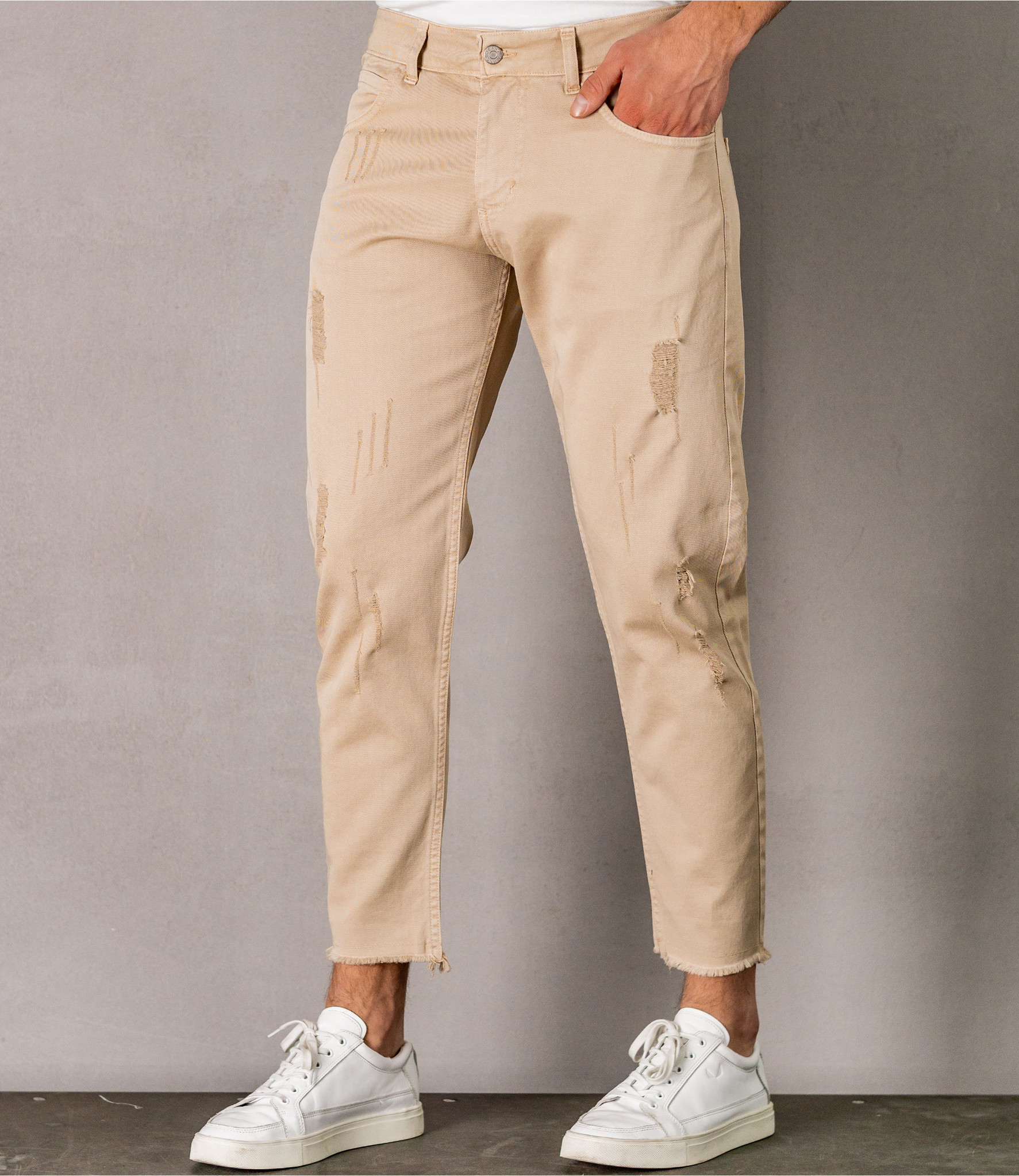 Zumo Slim Fit Jeans NICOLO Camel