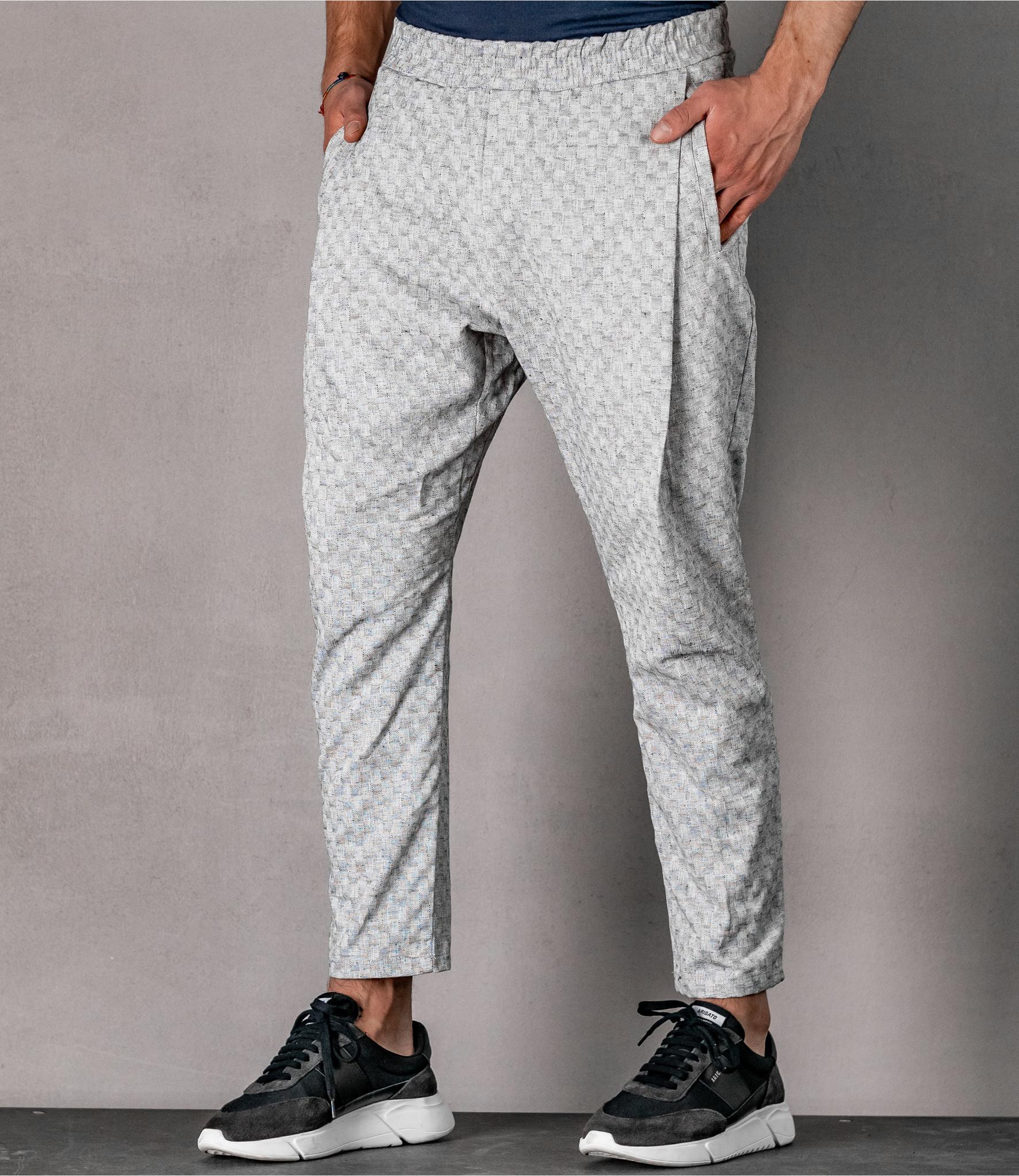 Zumo Loose Fit Pants VARVATH-CITRUS WhiteBlack