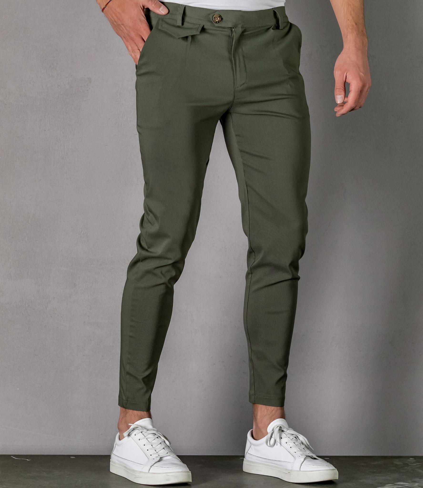 Zumo Slim Fit Pants VALERIO Olive