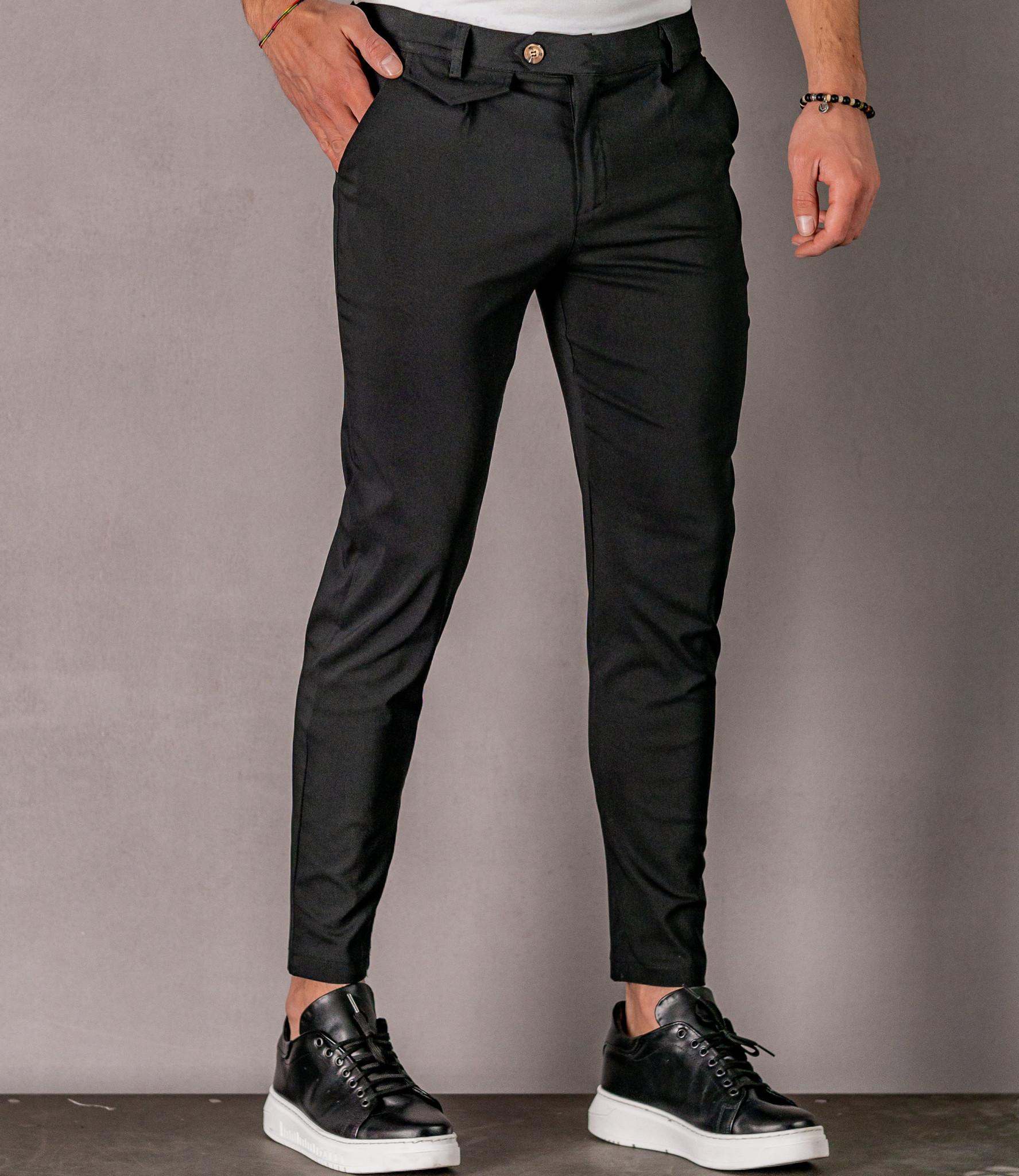 Zumo Slim Fit Pants VALERIO Black