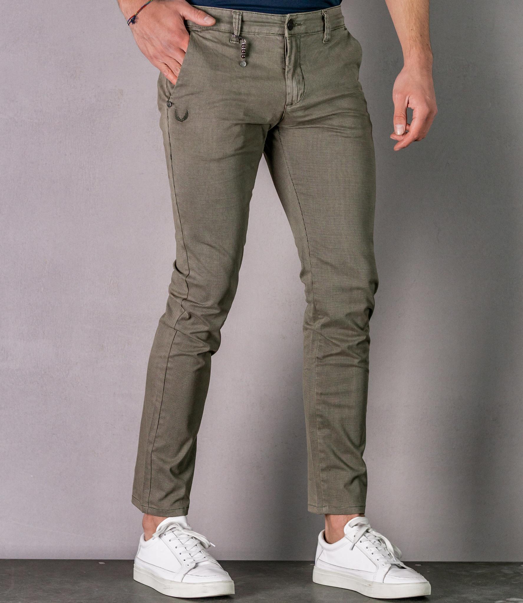 Zumo Slim Fit Pants PALM SPRINGS Screen-Check BlueKit