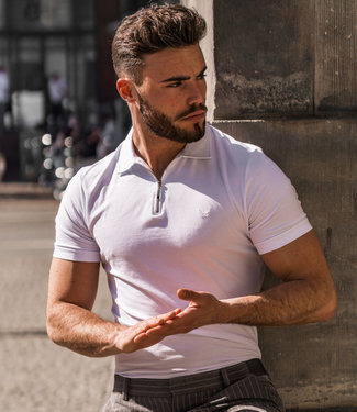 Zumo Slim Fit Polo's LERBY White