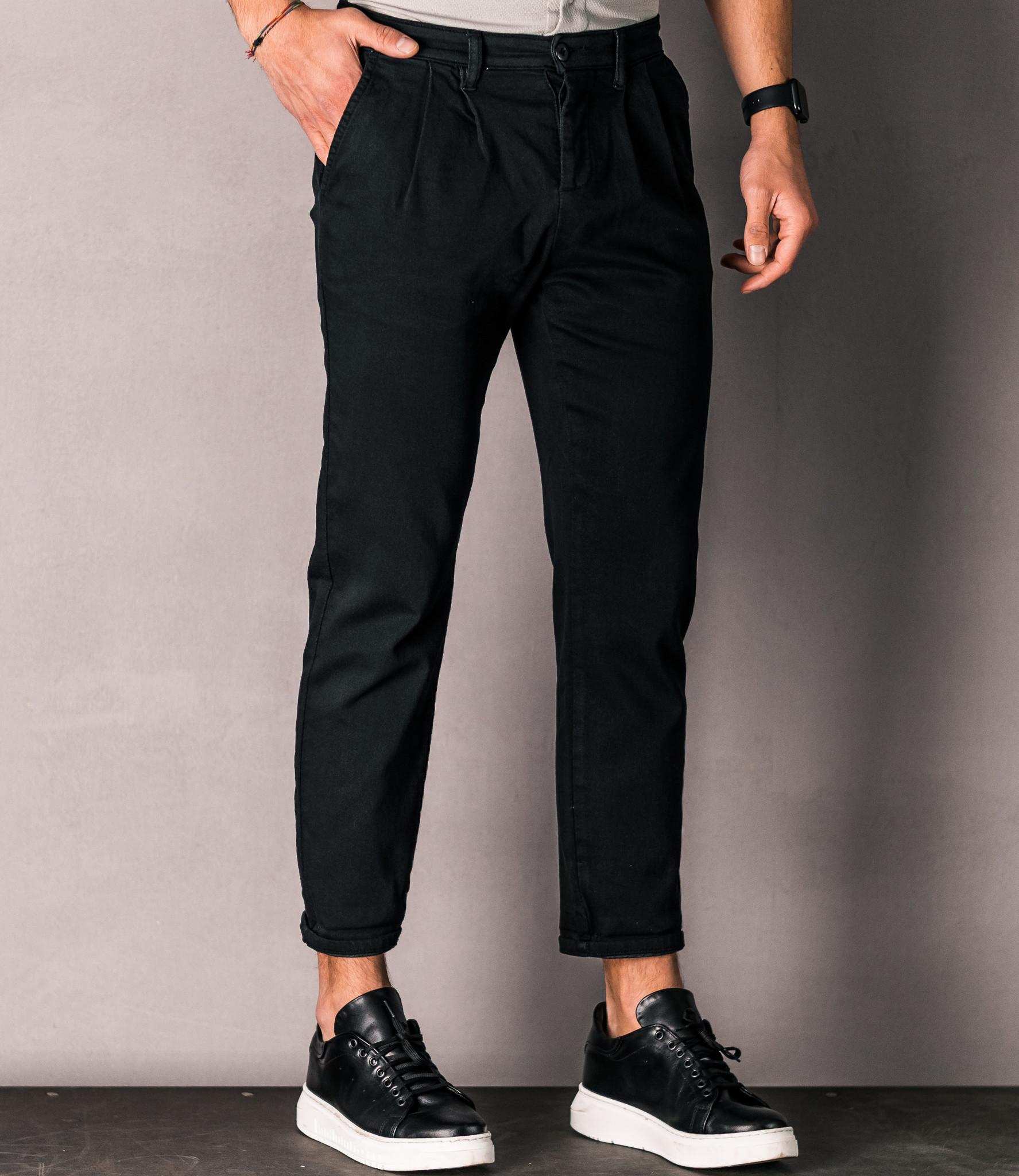 Zumo Carrot Fit Pants IRVING Black