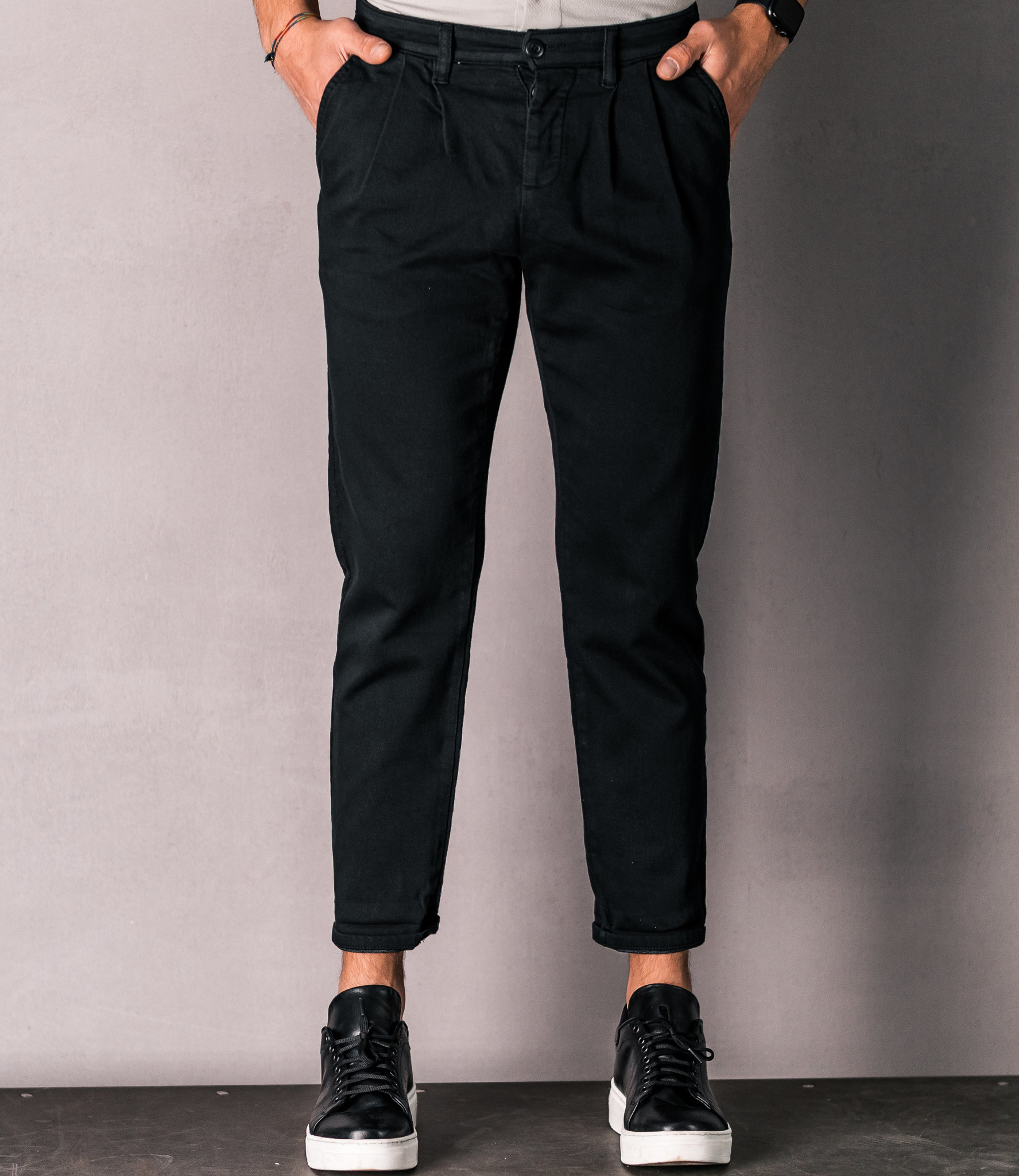 Zumo Carrot Fit Pants IRVING Black