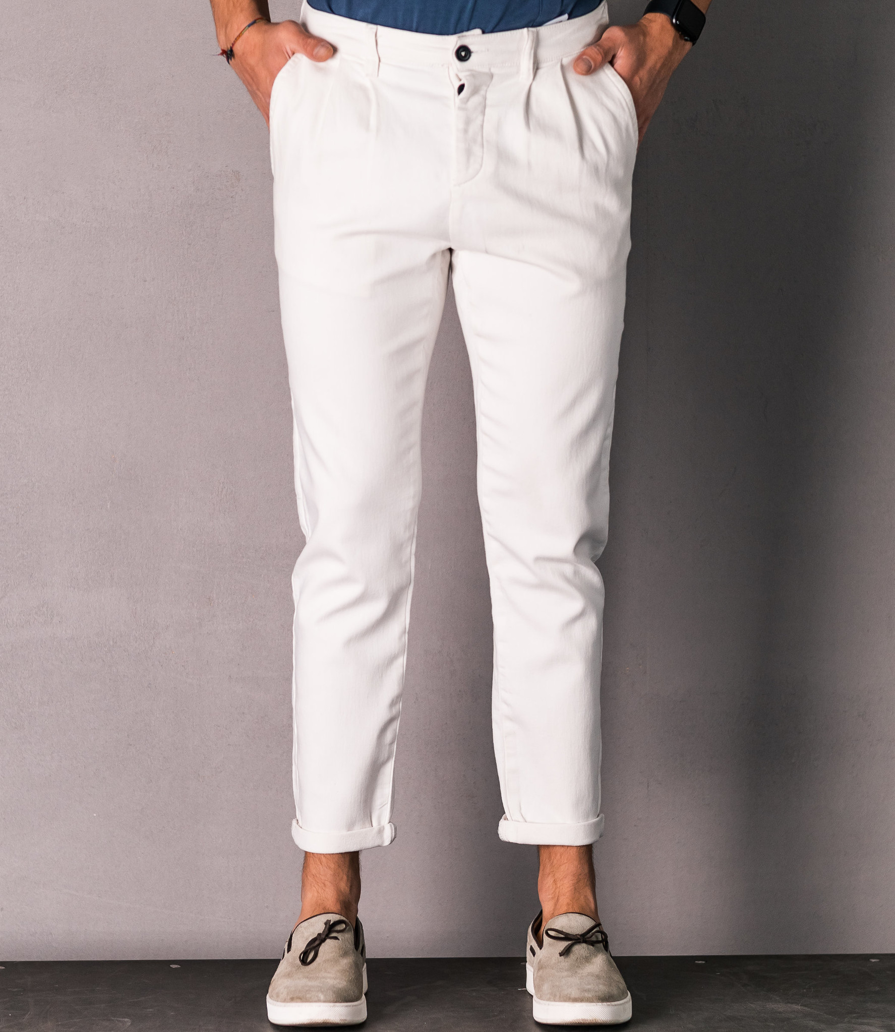 Zumo Carrot Fit Pants IRVING White