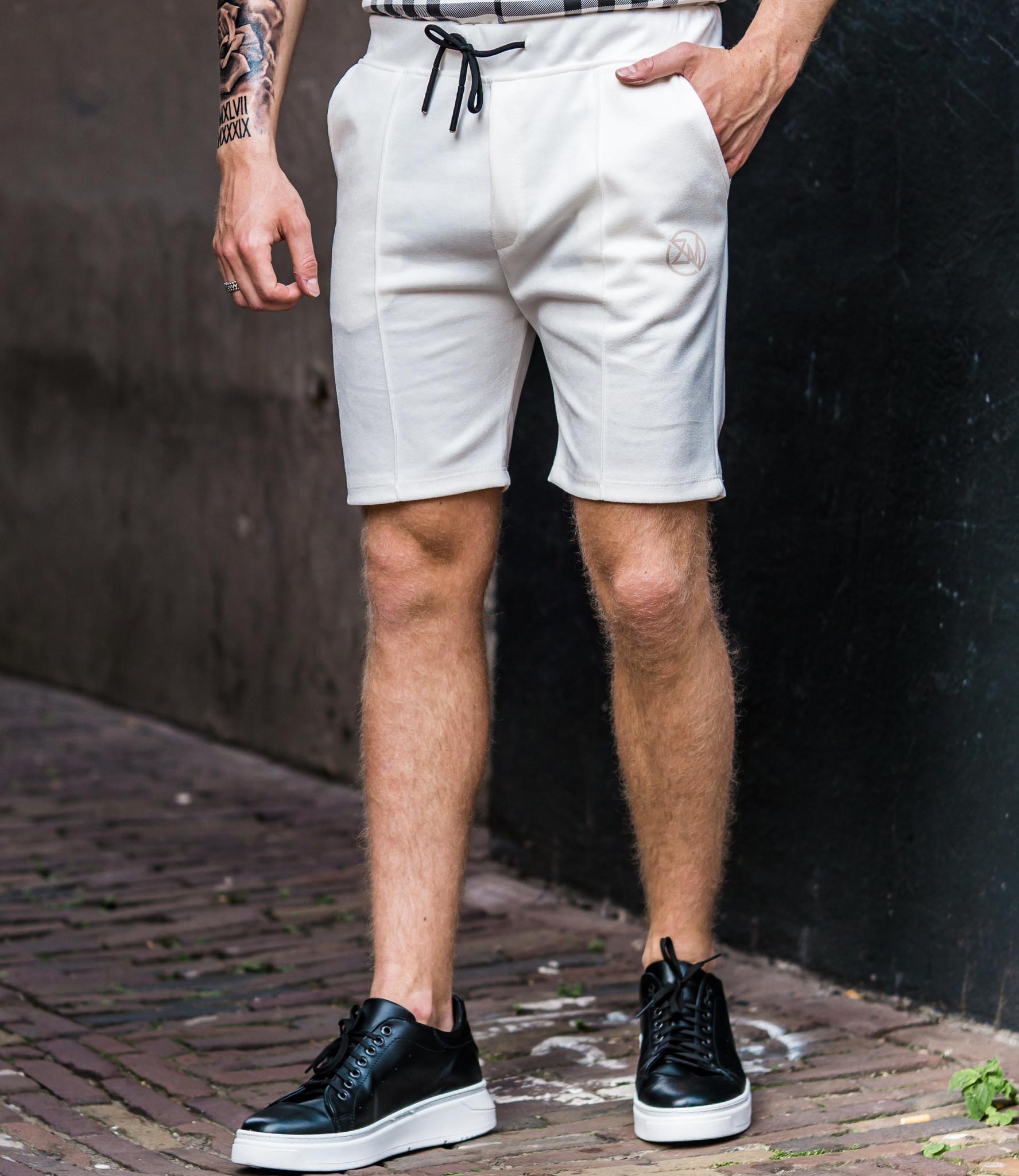 Zumo Slim Fit Shorts CELSO-SUEDINE-PLAIN Cream