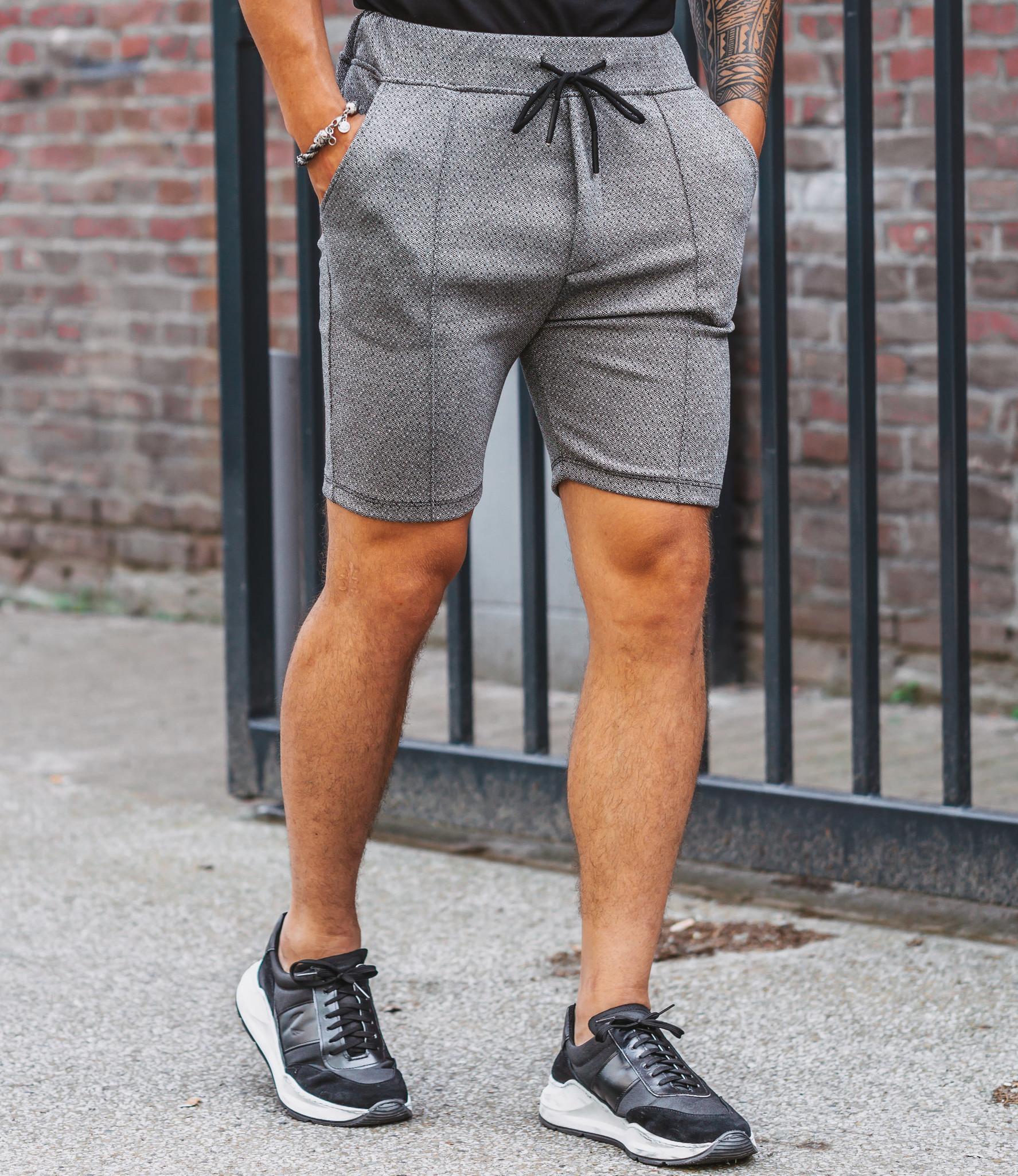 Zumo Slim Fit Shorts CELSO-FANCY GreyBlack
