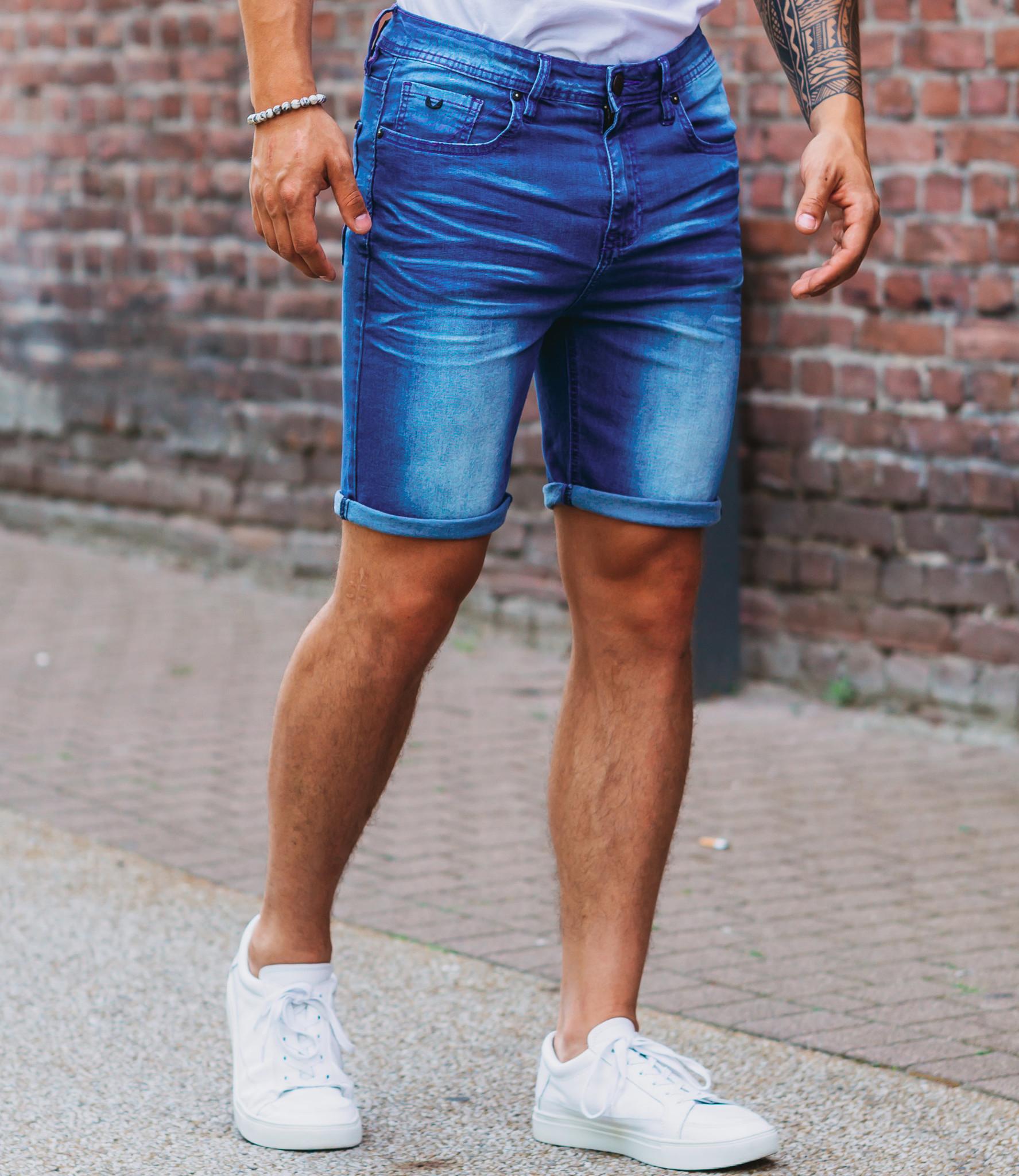 Zumo Slim Fit Shorts MIKE-SHROUMPF Blue