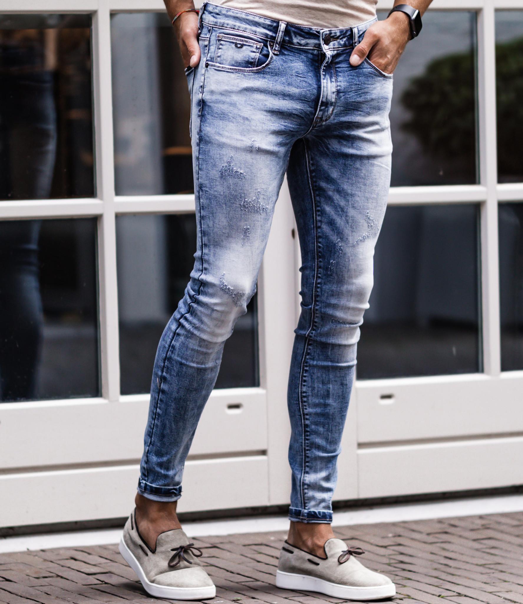 Zumo Extra Skinny Fit Jeans STEVE-FULL-DAMAGED Blue