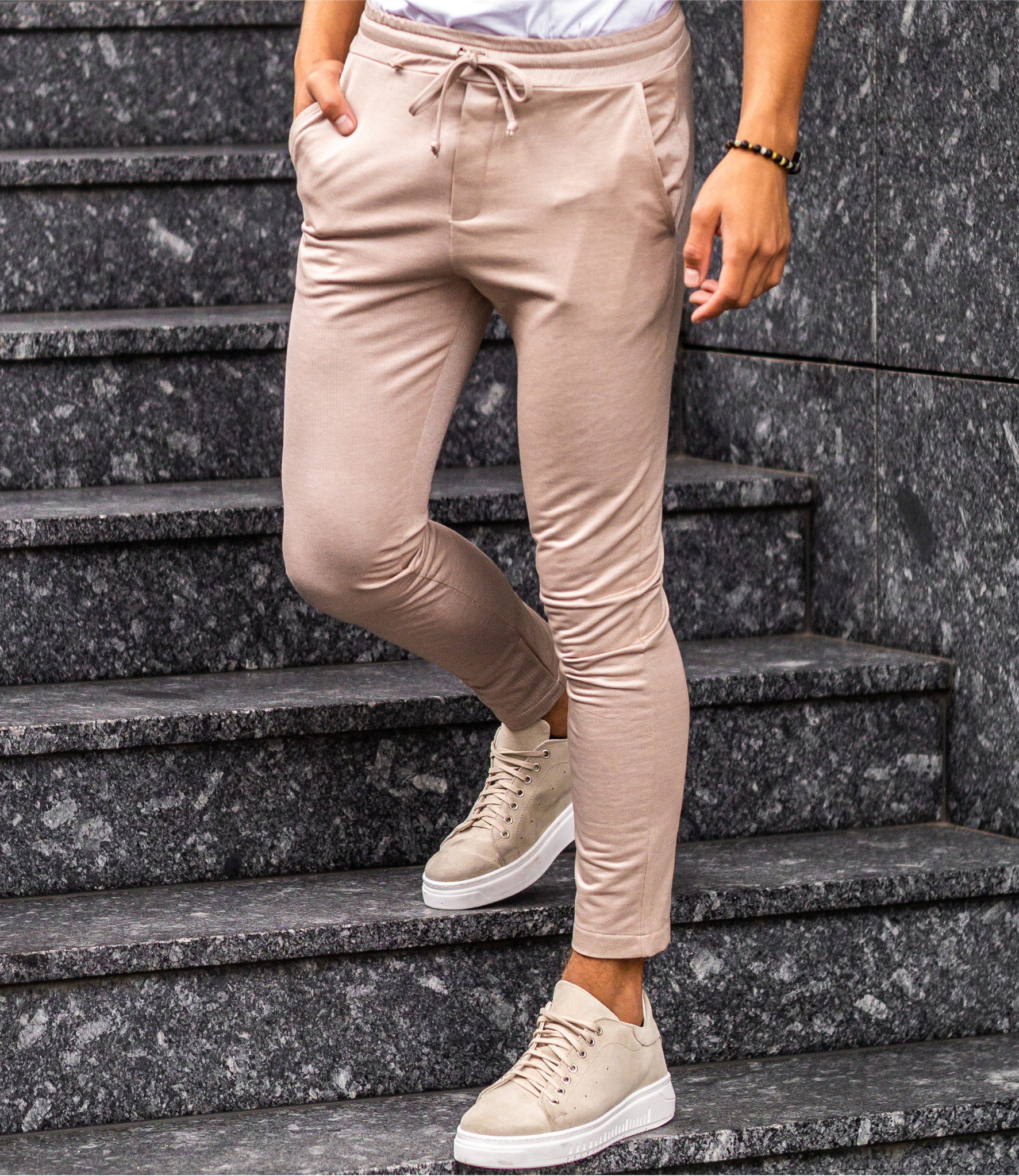 Zumo Extra Skinny Fit Pants DIVIANO-JERSEY LightCamelCream
