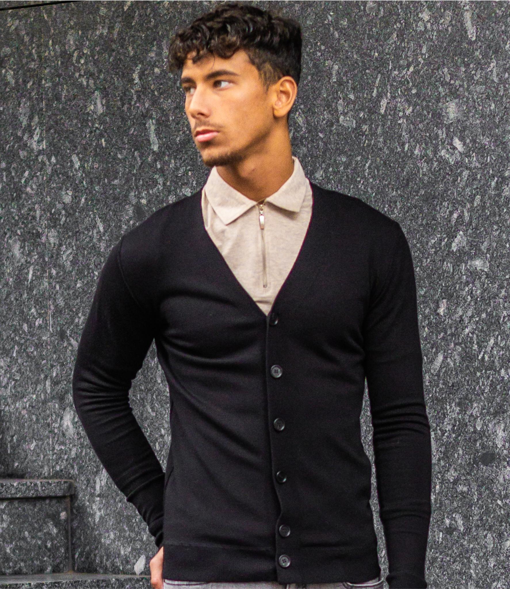 Zumo Slim Fit Cardigans BORK Black