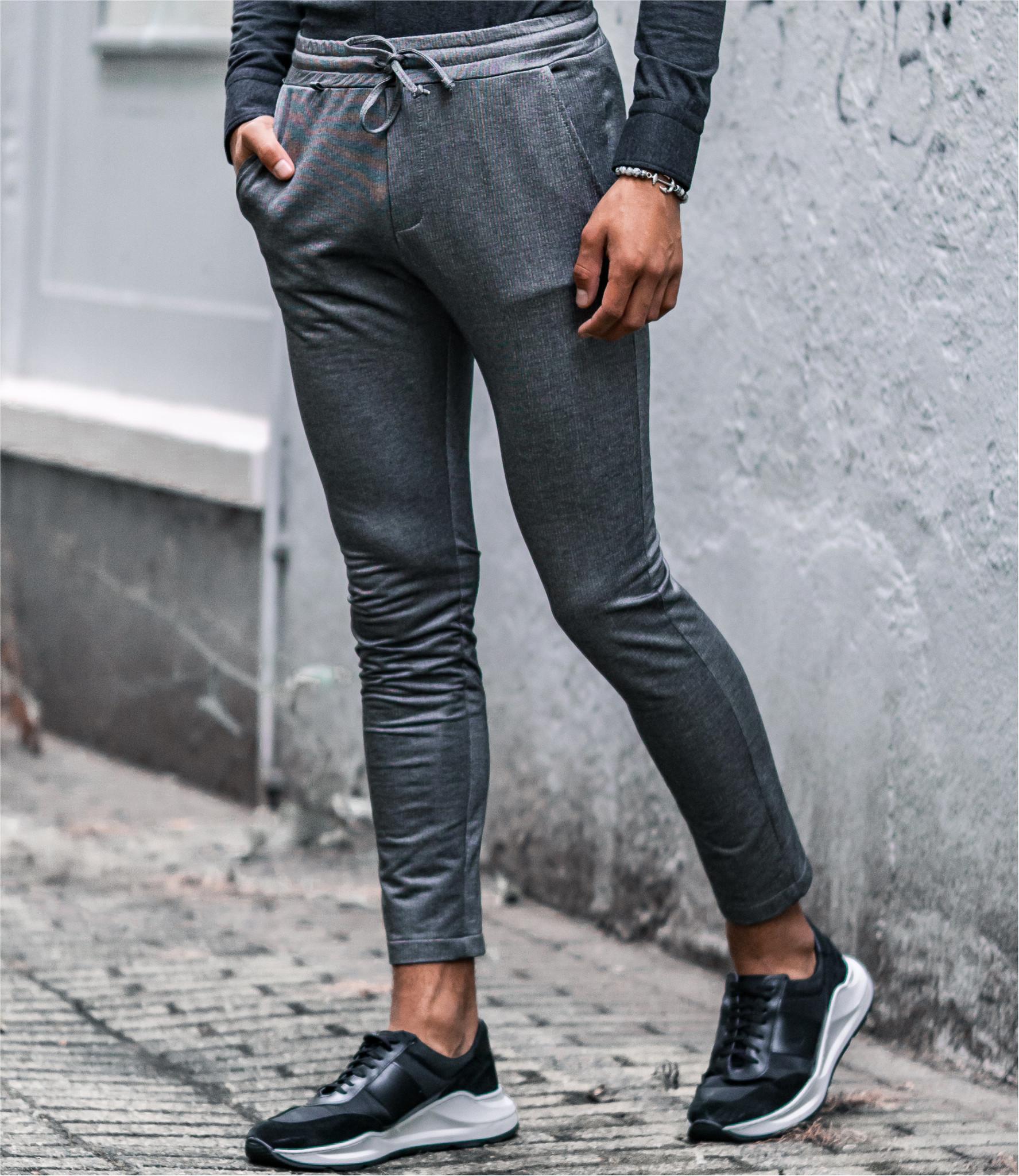 Zumo Extra Skinny Fit Pants DIVIANO-JERSEY BlackCream