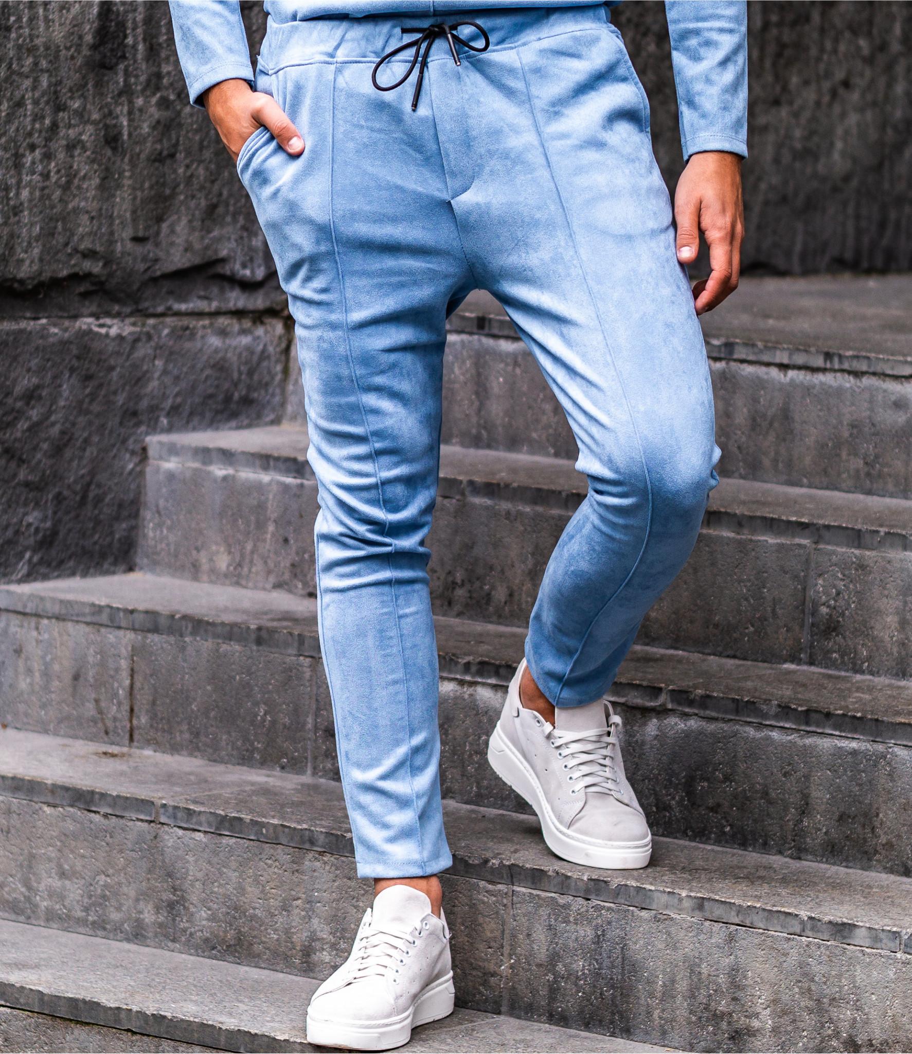 Zumo Carrot Fit Pants DEVITO-SUEDINE SkyBlue