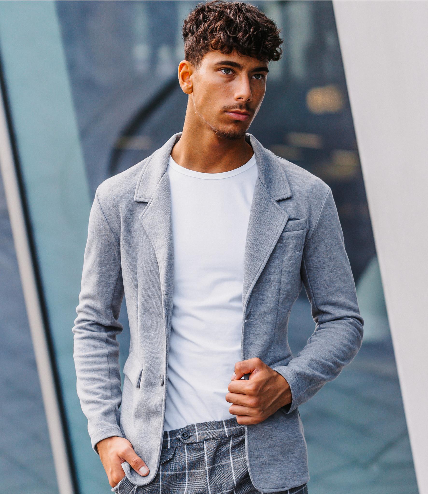Zumo Slim Fit Blazers BLAZER-HP Grey