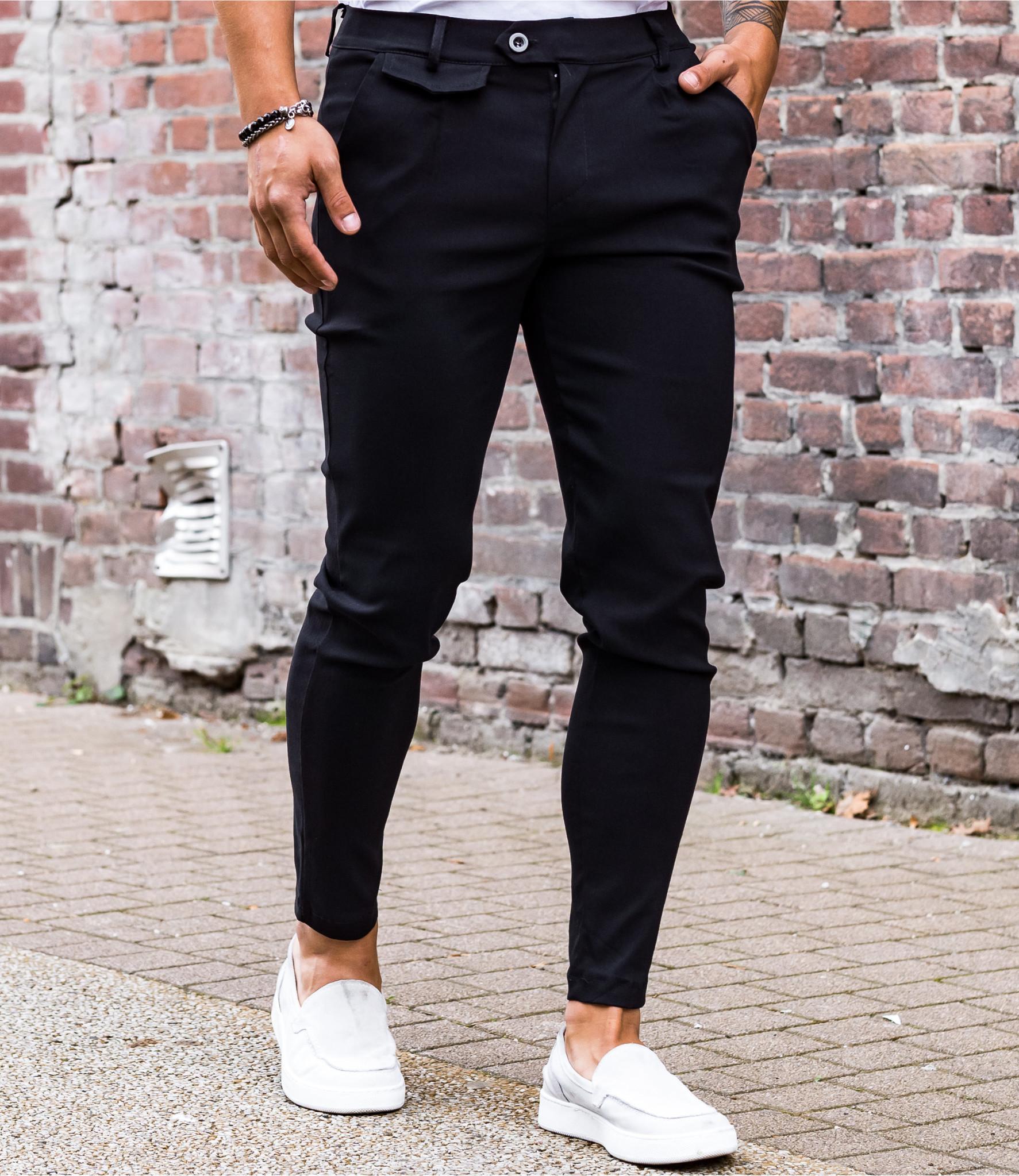Zumo Slim Fit Pants VALERIO-X Black