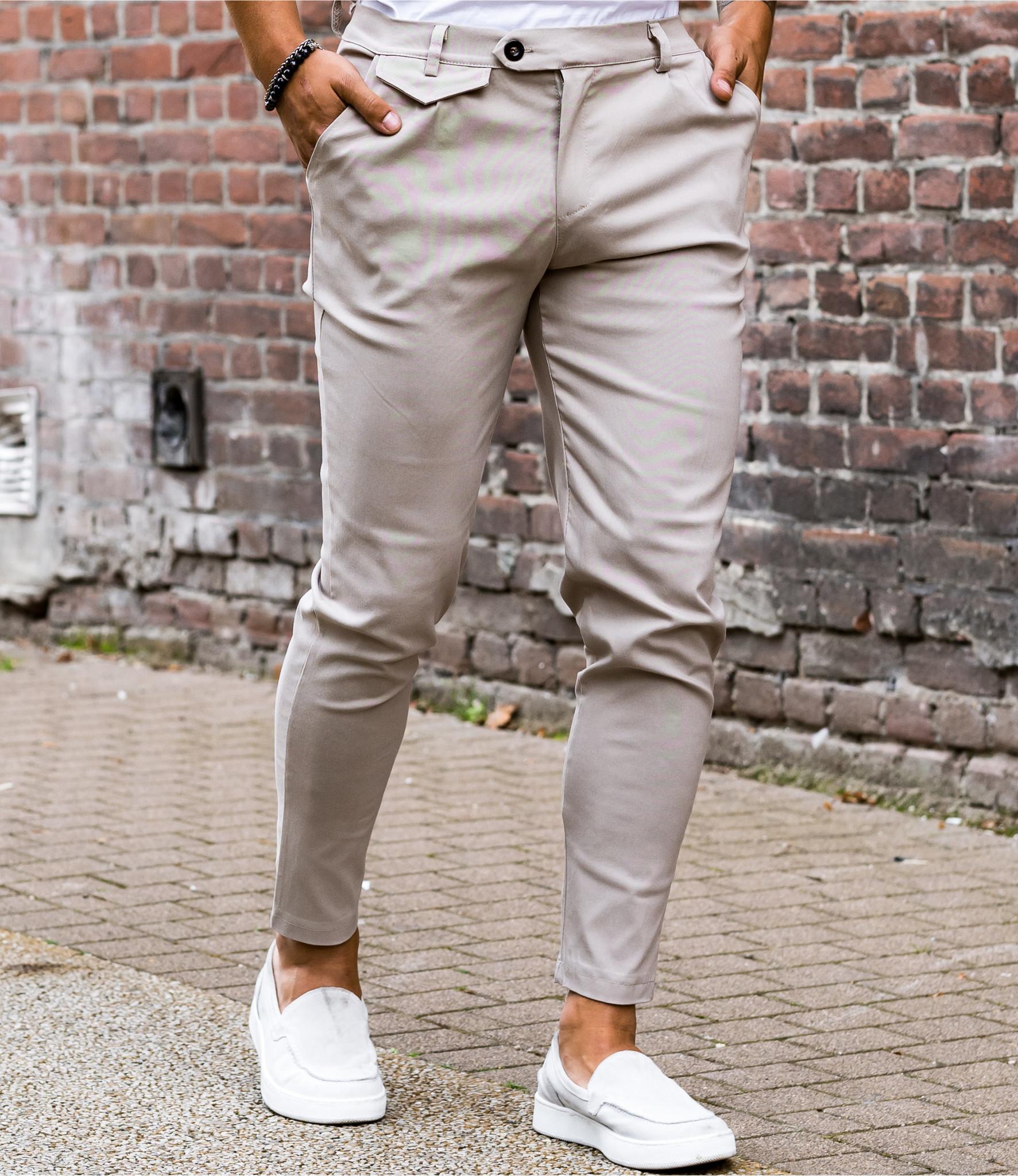 Zumo Slim Fit Pants VALERIO-X Sand