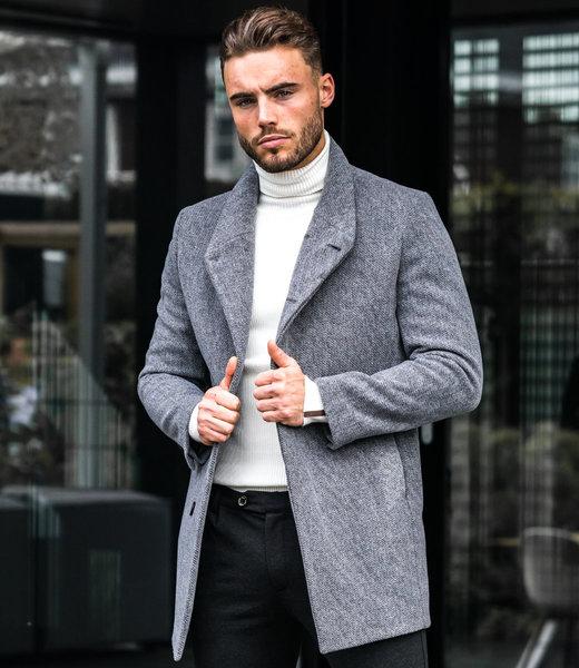Zumo Slim Fit Coats RICHMOND-IT-CAPRI Grey