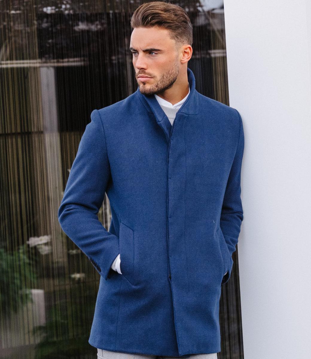 Zumo Slim Fit Coats RICHMOND-IT-CAPRI Blue