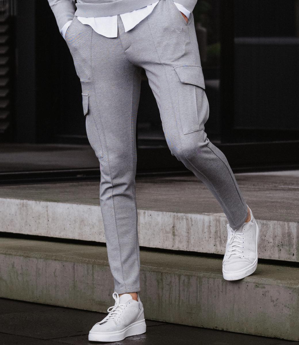 Zumo Slim Fit Pants JUSTIN Ecru