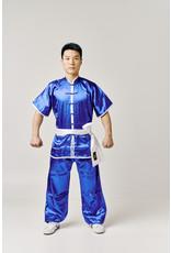Shaolin Kung Fu Uniform - Blauw Satijnlook