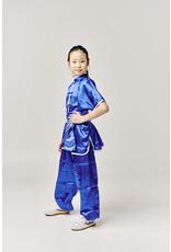 Shaolin Kung Fu Uniform - Blue Satinlook