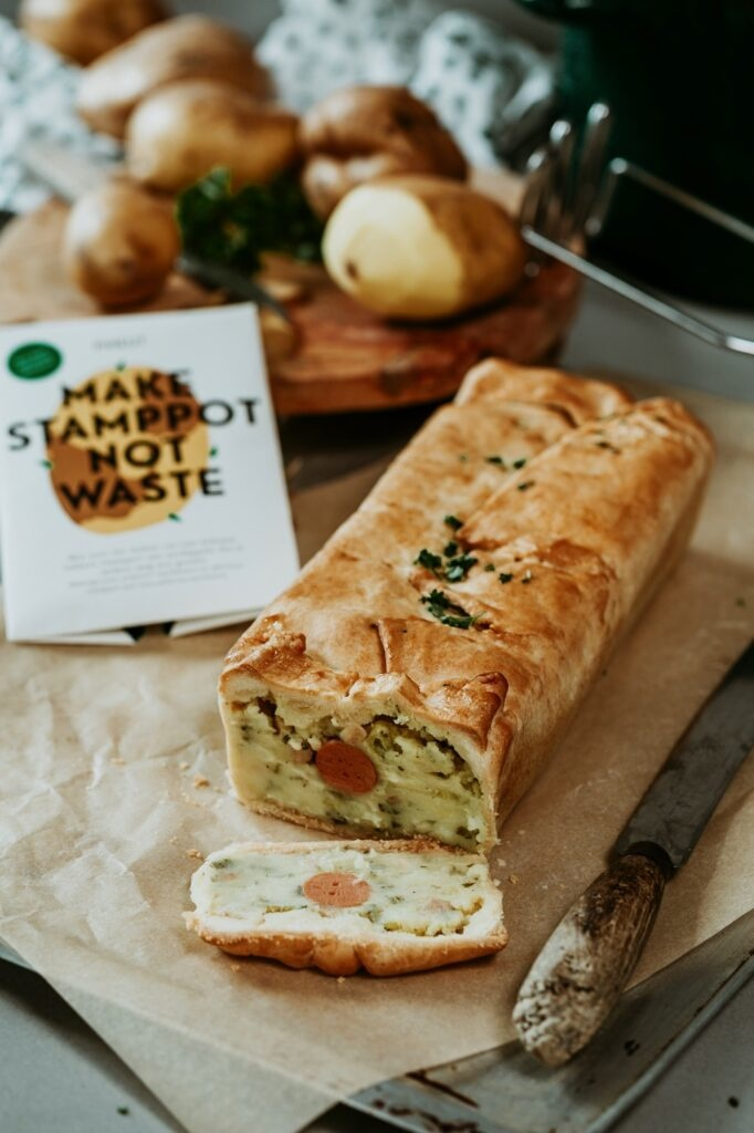 Stamppotbrood van (weggooi)groentes