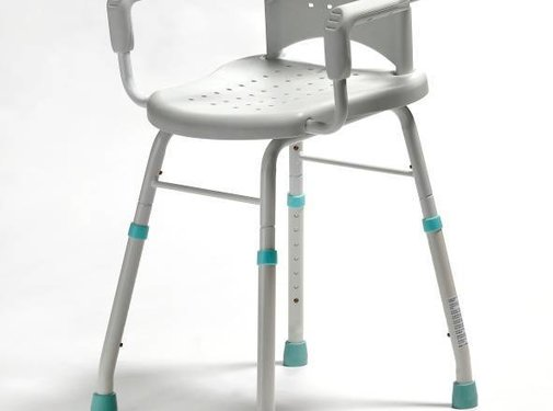 Douche- of werkstoel met afneembare arm- en rugleuning