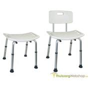 Kunststof douche-stoel met gevormde zitting (mag ook douche-kruk)