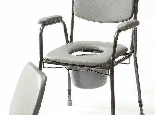 In hoogte verstelbare toiletstoel