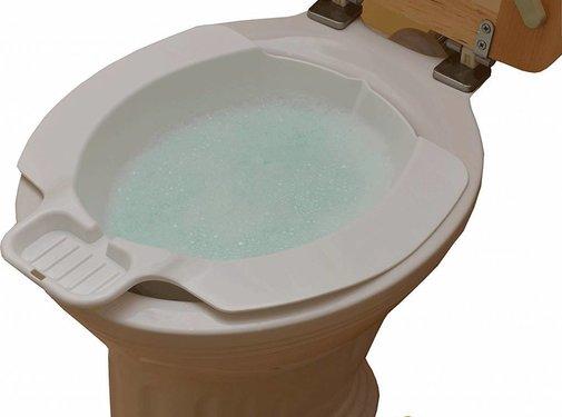 Kunststof opzet bidet voor het toilet
