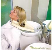 Lichtgewicht haarwasbak voor gebuik aan wastafel