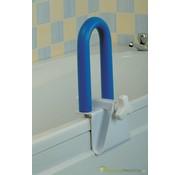 Blauwe zacht gecoate handgreep voor op de badrand - lengterichting