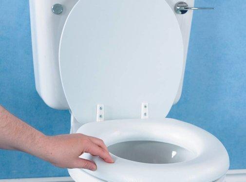 Zachte toiletzitting met platilonbekleding voor gewoon toilet