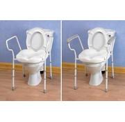 Toiletsteun met zitting en wijde armsteunen