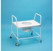 Toiletstoel met zitting xl homecraft, verrijdbaar