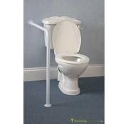 Vaste steun voor het toilet met vloer/muurbevestiging