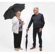 Paraplu en wandelstok in 1