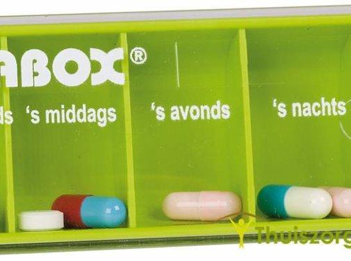 Pillendoosje Anabox voor 1 dag met 5 vakken