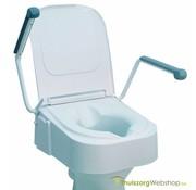 In hoogte verstelbare toiletverhoger met armsteunen