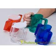 Handycup® schuine beker met 2 drinktuitjes